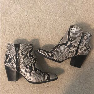 Style & Co. Snakeskin Booties